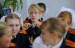 Undervisning på Rysslands militära internatskola för flickor.