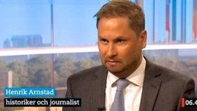 """Historiestudenten och """"fascismexperten"""" Henrik Arnstad. Ytterligare bildtext överflödig."""