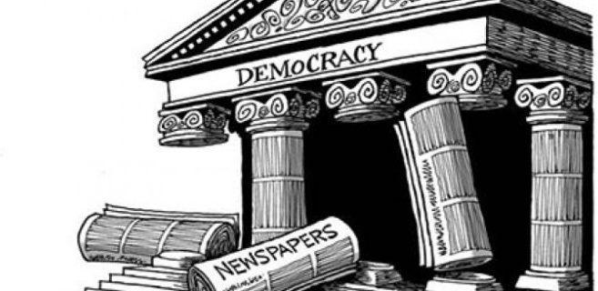 Demokratins fall